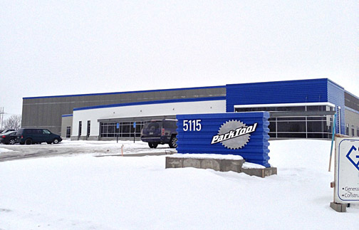 Front of Park Tool from the road during winter