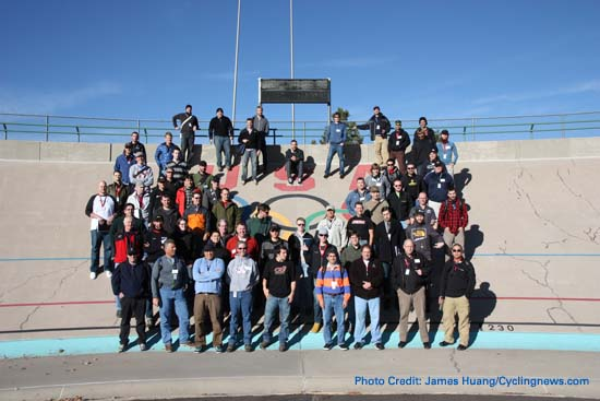 The Class of 2010 at the velodrome in Colorado Springs
