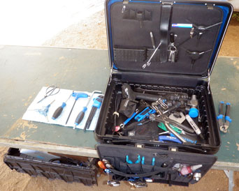Park Tool toolbox open and ready to repair