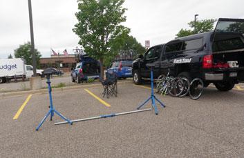 ES-1 set up in parking lot