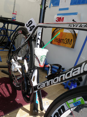 Our team bike, the Cannondale Synapse