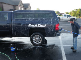 Park Tool pickup getting cleaned