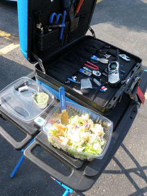 A big meal on Park Tool portable workbench