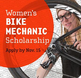 Women's Bike Mechanic scholarship graphic