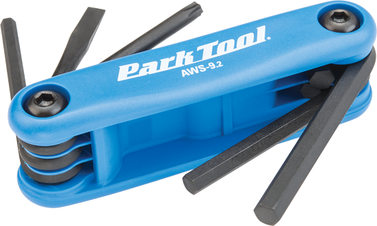 The Park Tool AWS-9.2, Fold-Up Hex Wrench Set