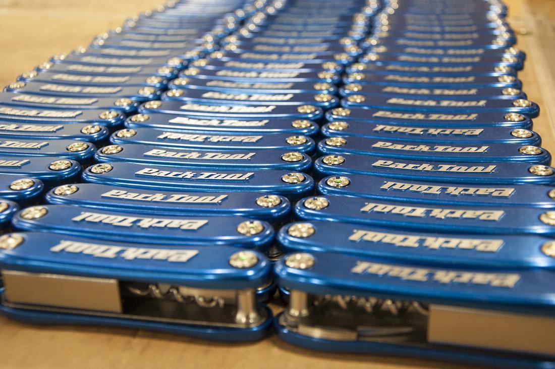 Multiple rows of the Park Tool BO-4 Bottle Opener