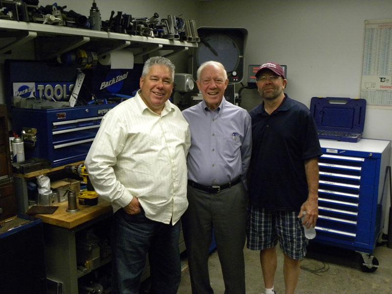 Bill Armas with U.S. congressman from Minnesota Jim Oberstar and Gary Sjoquist from QBP