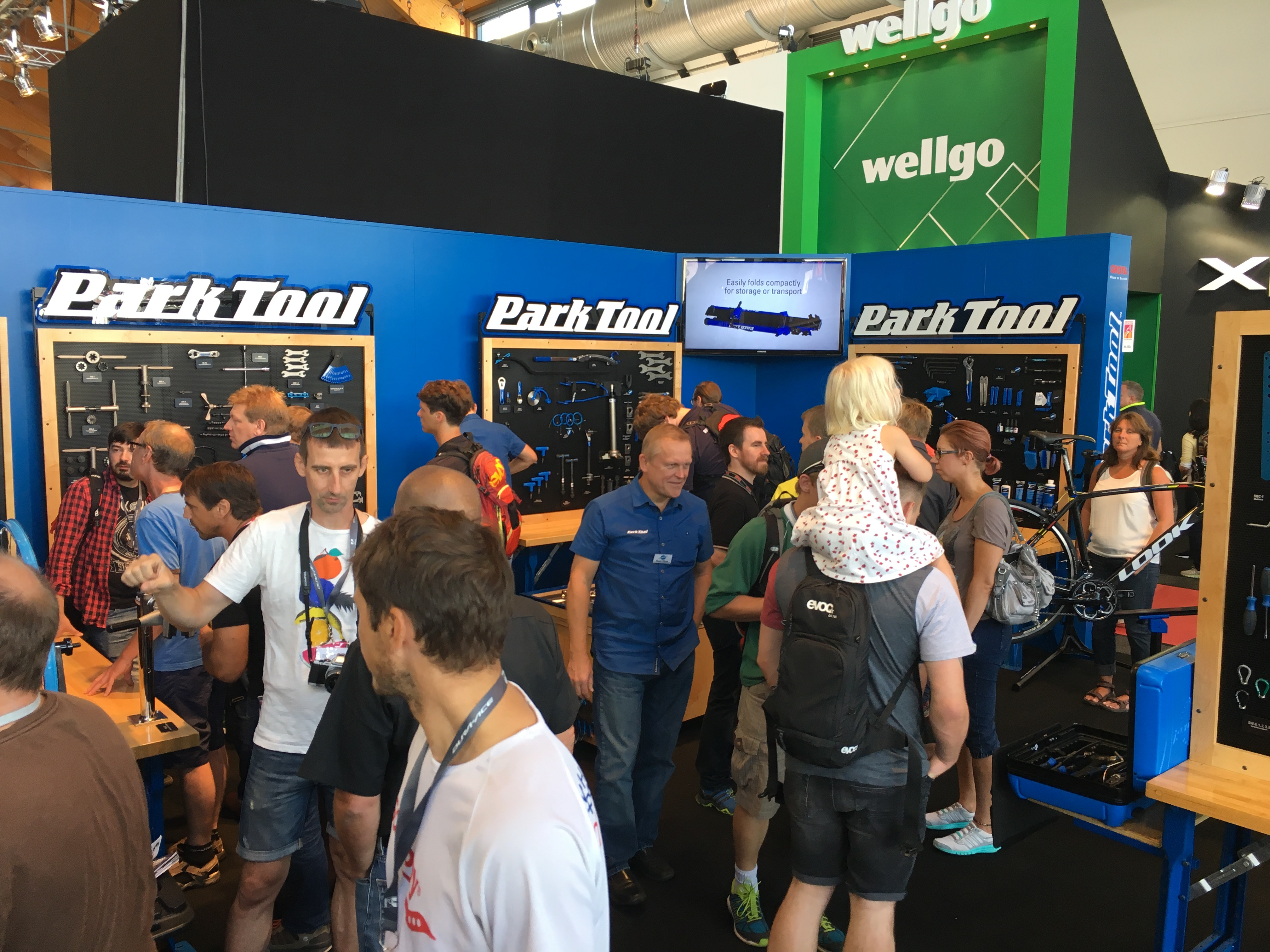 Park Tool Eurobike 2016 booth full of people