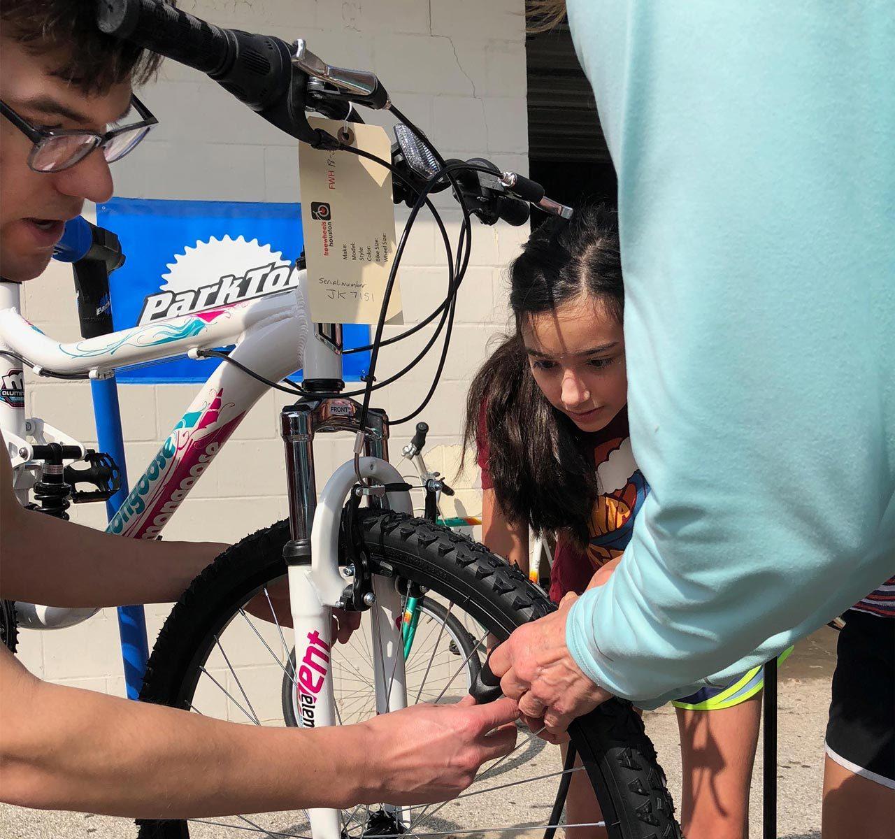 Community grant winners, freewheels, fixing up a bike