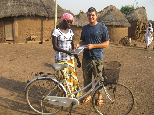 Jeremy Venable in Ghana with Park Tool donation