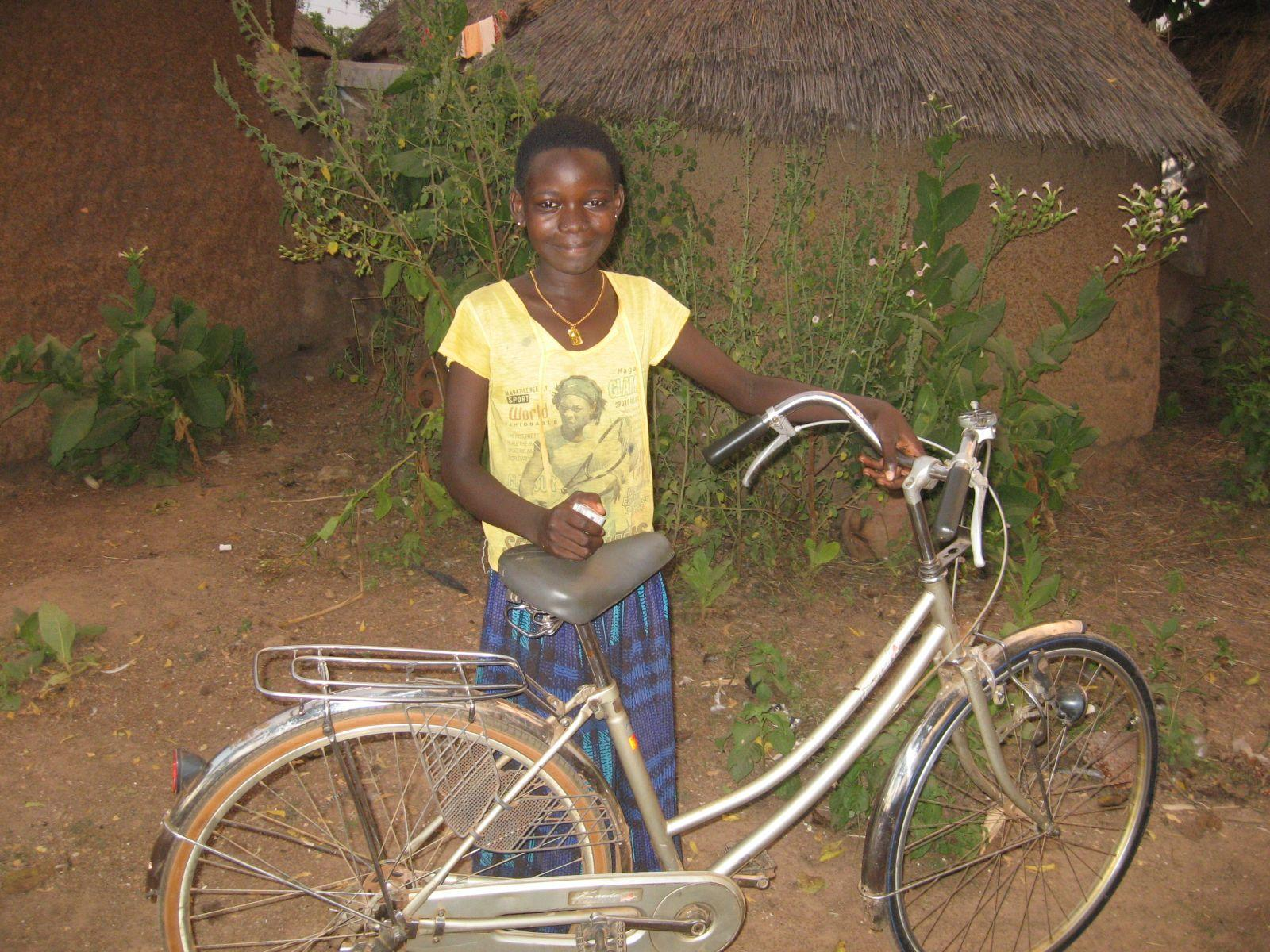 Child in Ghana with Park Tool bike donation