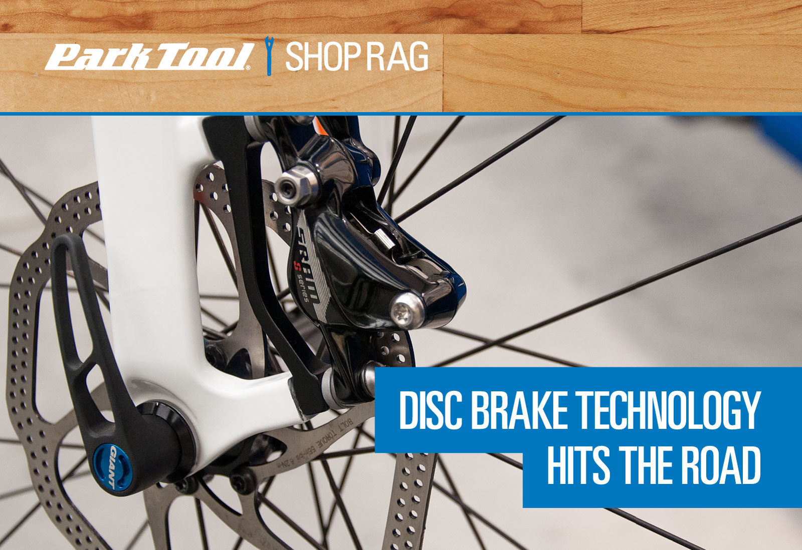 Title graphic for disc brake technology hits the road