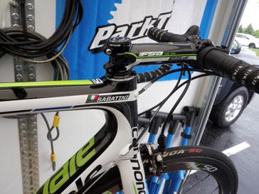A spare bike of Fabio Sabatini, used during the ATOC.