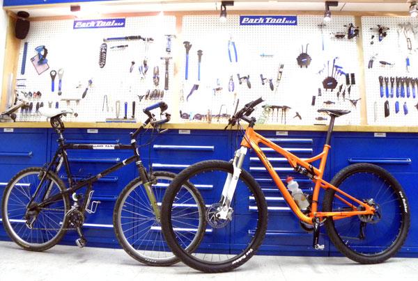Clark-Kent mountain bike and the Salsa Spearfish