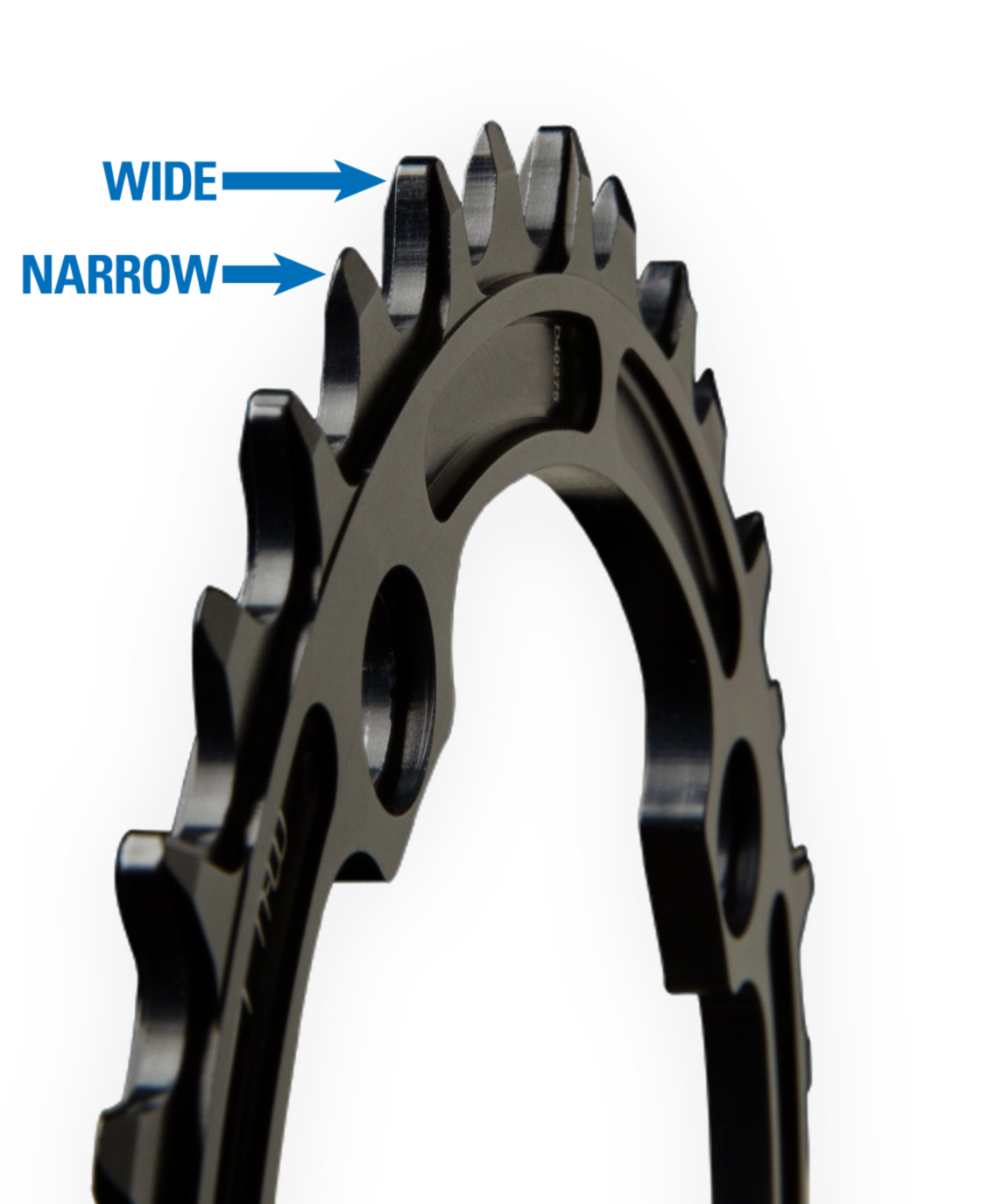Wide Narrow chainring tooth profile.