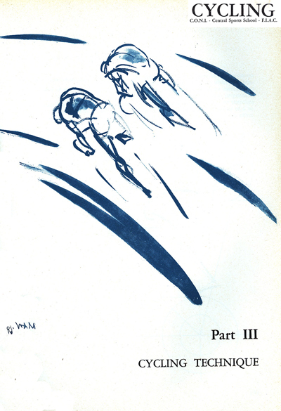 Sketch of two cyclists riding side by side
