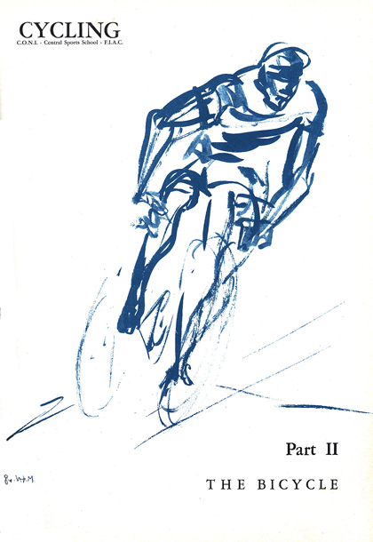 Sketch of An aggressive rider on the move