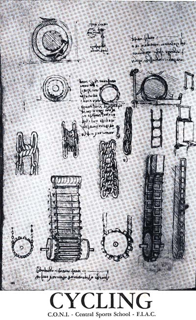 Sketches of different bike parts