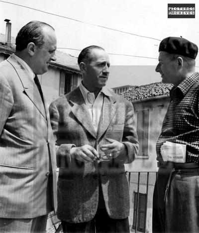 Left to right: Adriano Rodoni, Jacques Goddett, and Aldredo Binda