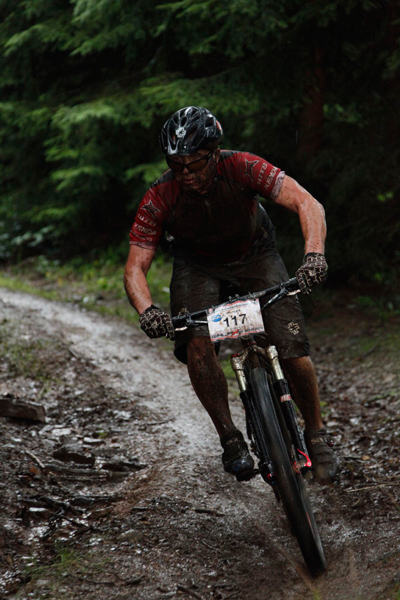 Petr Kuba of PedalSport on trail