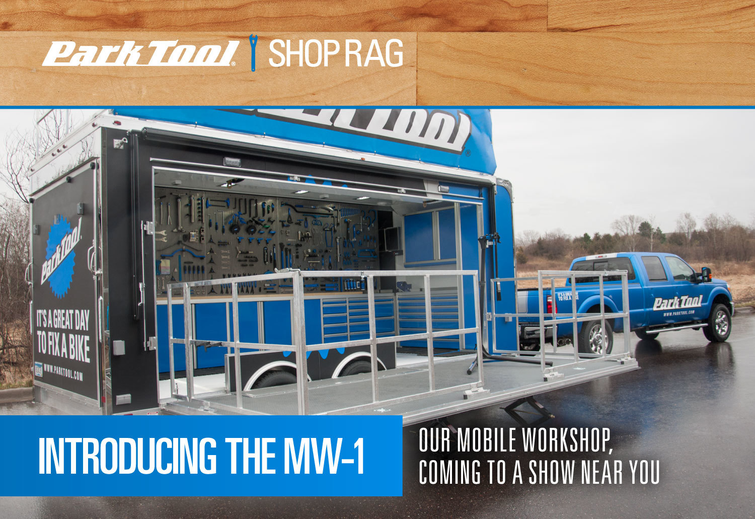 Park Tool Shop Rag introducing the MW-1 Mobile workshop