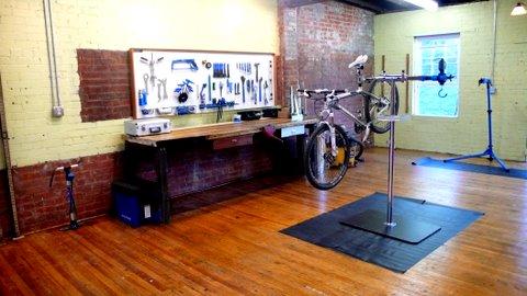 Miller School in Charlottesville bike repair classroom