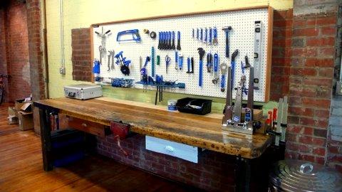 Miller School in Charlottesville workbench