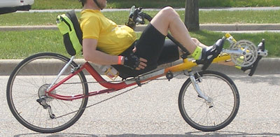 The laid back posture of the recumbent should relax the rider.