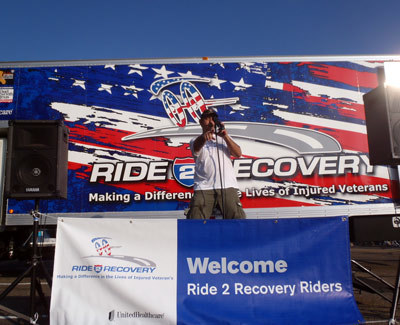 Dave Blackmon on stage at Ride to Recover