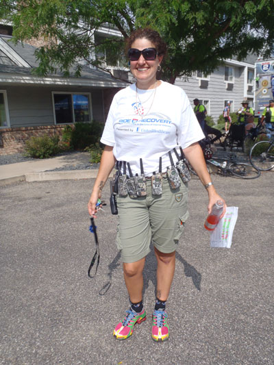 Lisa Moro with bike tool belt