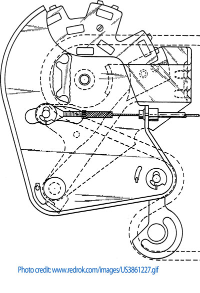 The Tokheim shifting system patent drawing