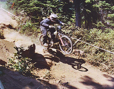 The extremes of downhill racing require strength and rigidity in the front end
