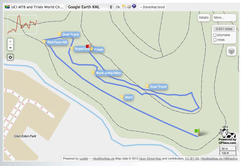 The XCE course for 2013 MTB Worlds