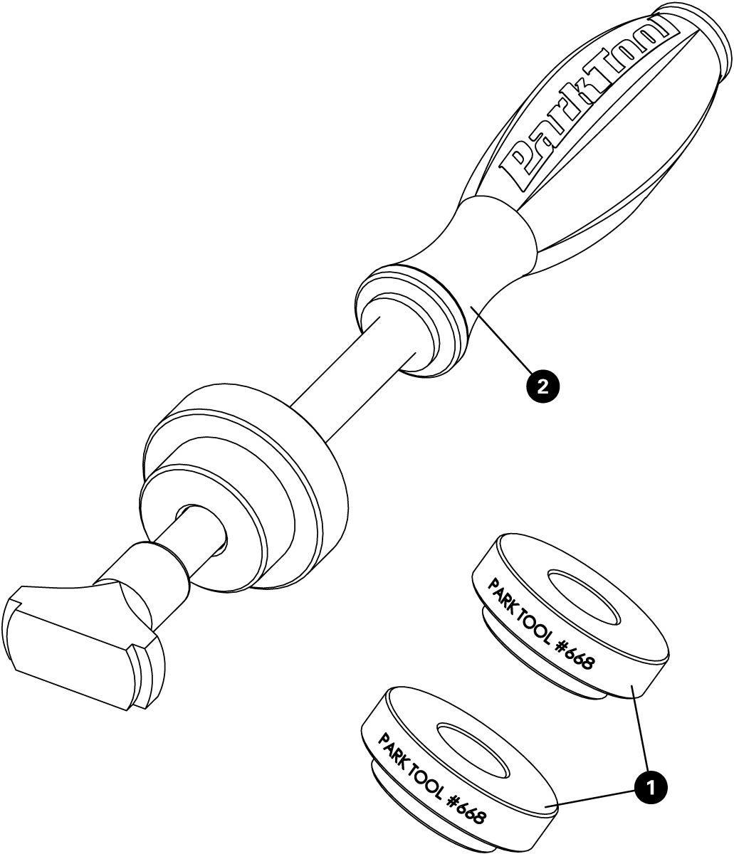 Parts diagram for BBT-30.4 Bottom Bracket Bearing Tool Set, click to enlarge
