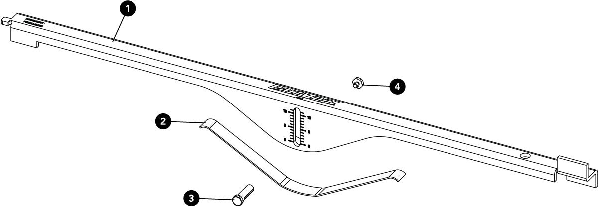 Parts diagram for BDT-2 Belt Drive Tension and Alignment Tool, click to enlarge