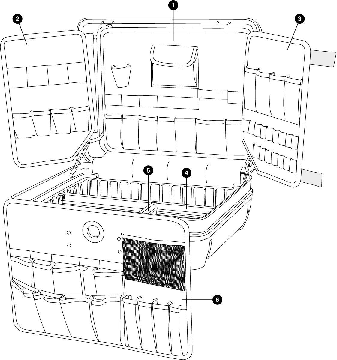 Parts diagram for BX-2.2 Blue Box Tool Case, click to enlarge