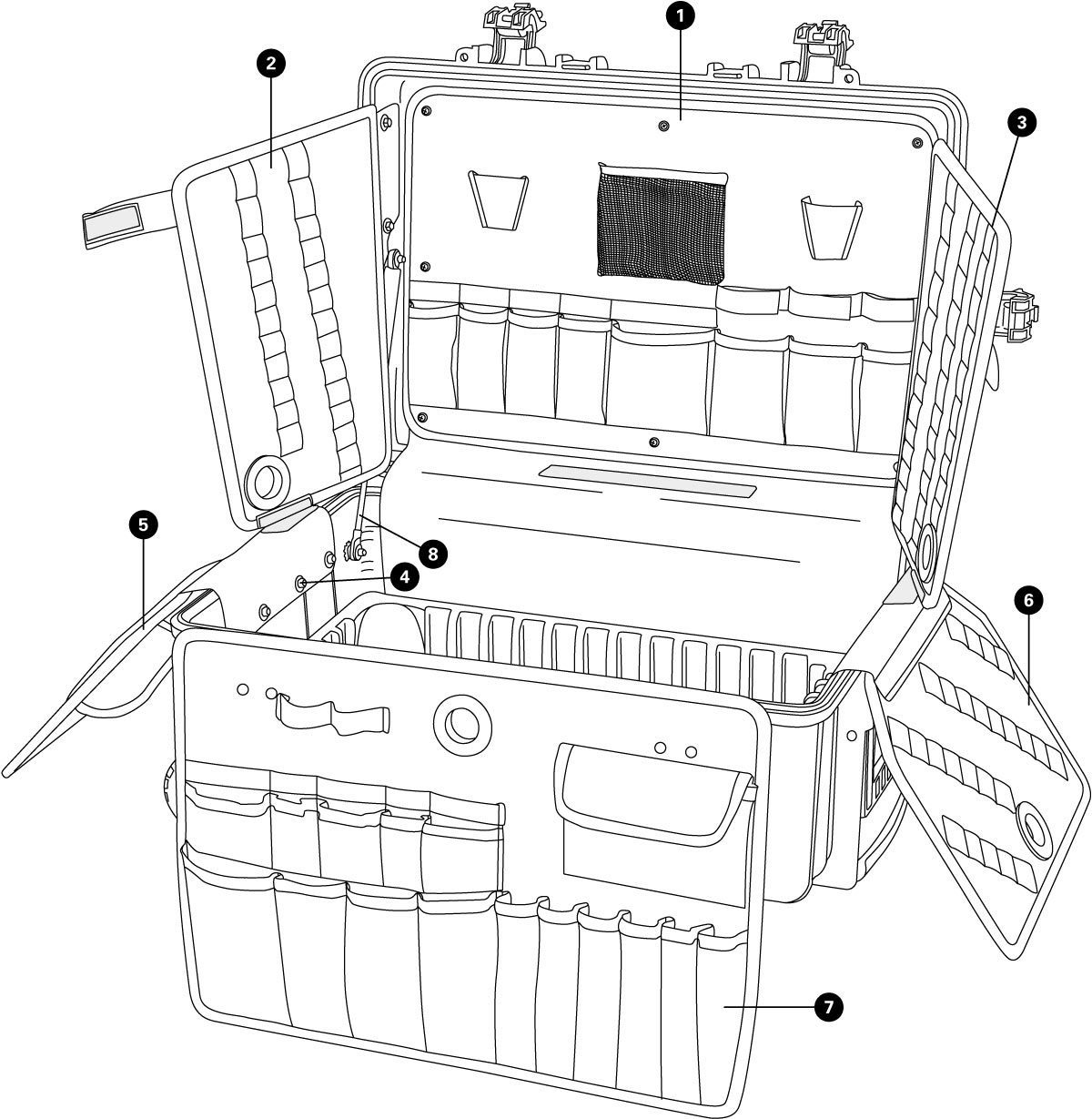 Parts diagram for BX-3 Rolling Big Blue Box, click to enlarge