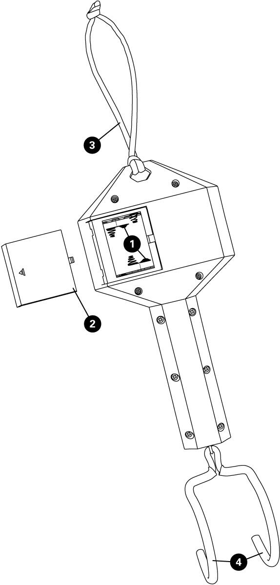 Parts diagram for DS-1 Digital Scale, click to enlarge