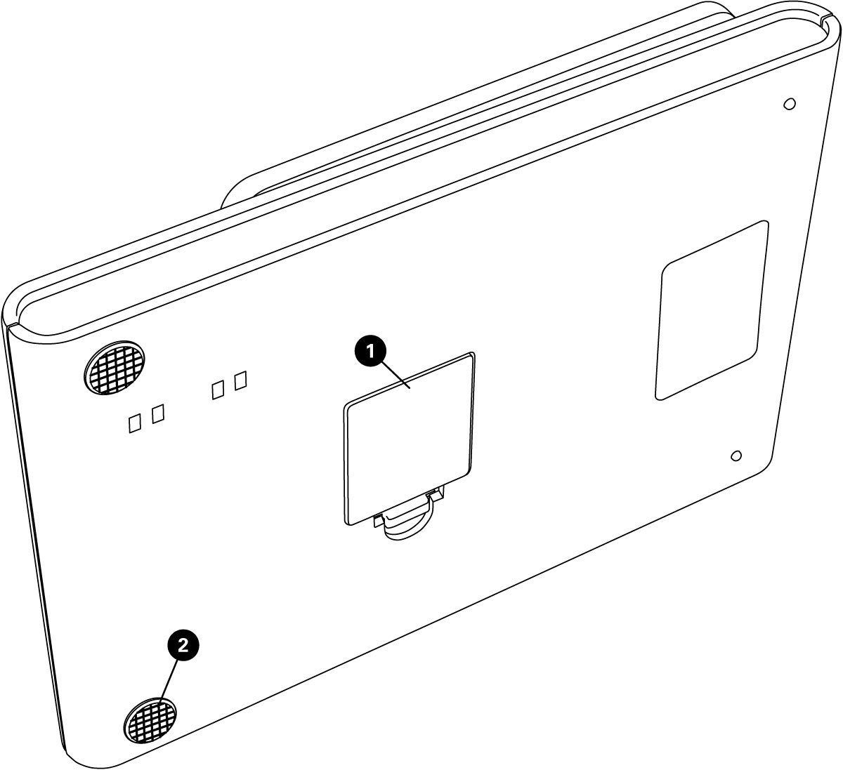 Parts diagram for DS-2 Tabletop Digital Scale, click to enlarge