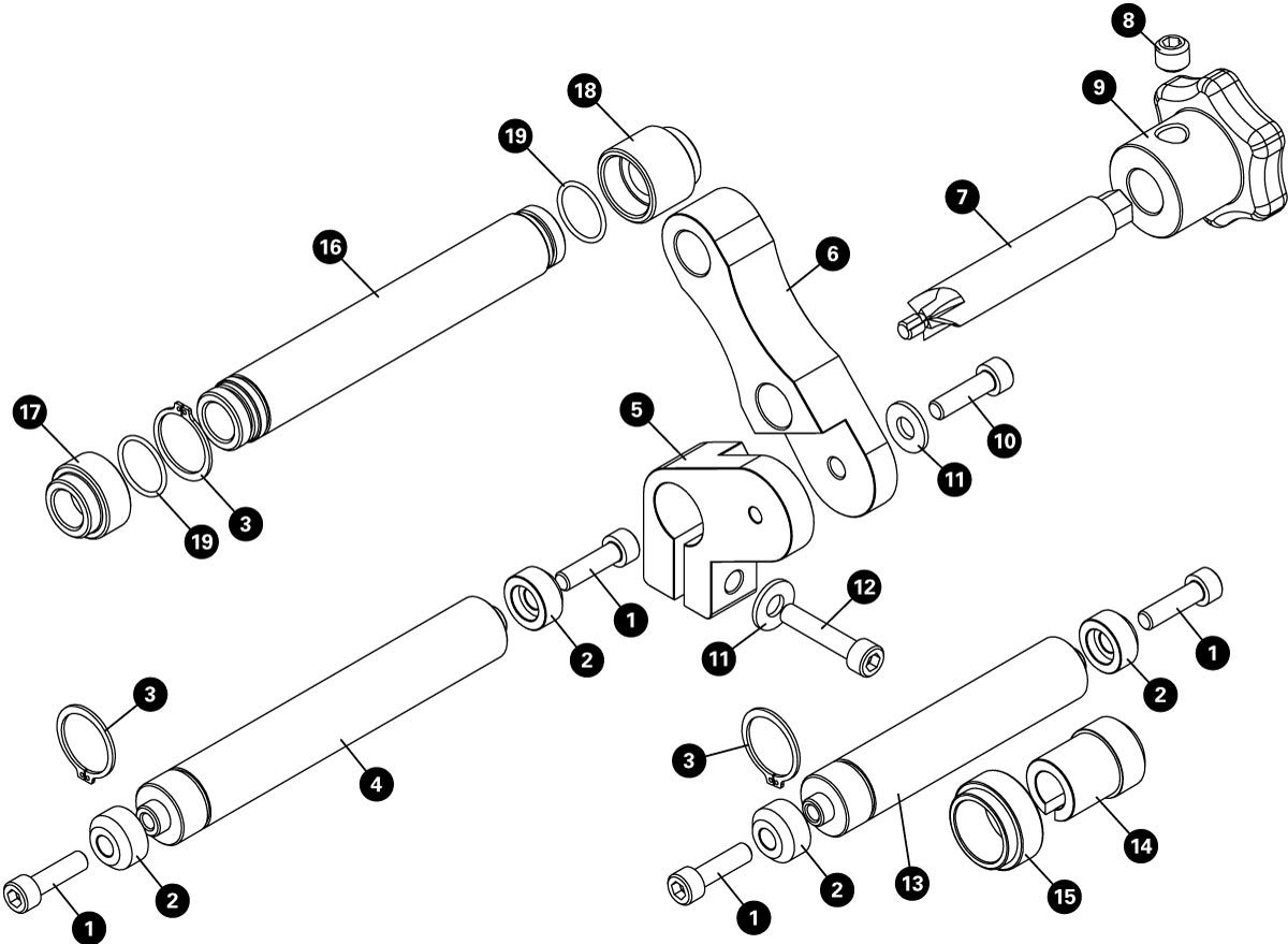 Parts diagram for DT-1.2 Disc Brake Mount Facing Tool, click to enlarge