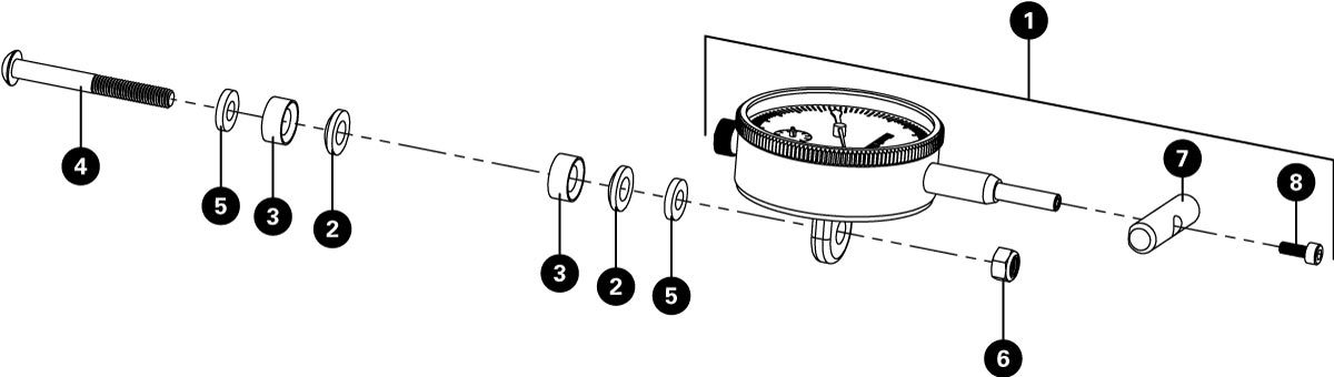 Parts diagram for DT-3i.2 Dial Indicator for DT-3, click to enlarge