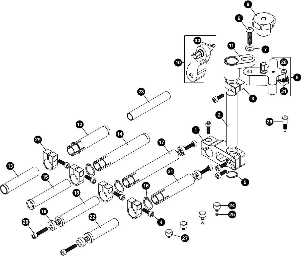 Parts diagram for DT-5.2 Disc Brake Mount Facing Set, click to enlarge