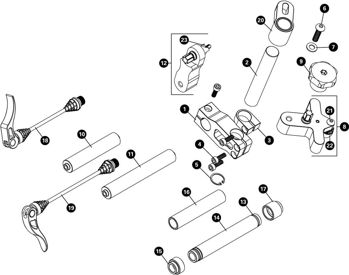 Parts diagram for DT-5 Disc Brake Mount Facing Set, click to enlarge