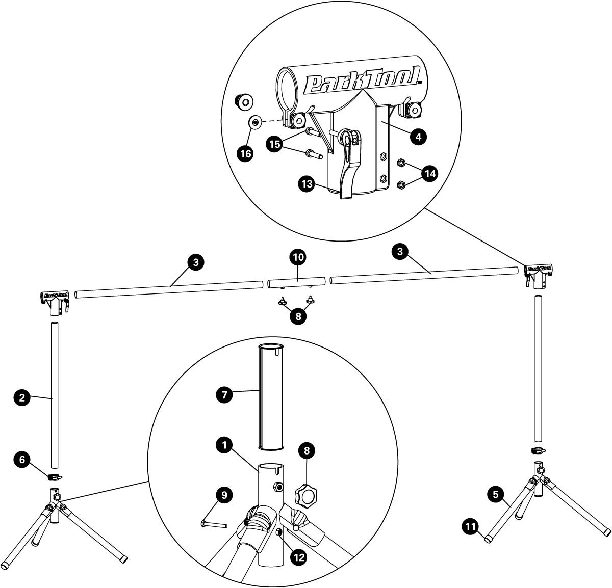 Parts diagram for ES-2 Event Stand Add-On Kit, click to enlarge