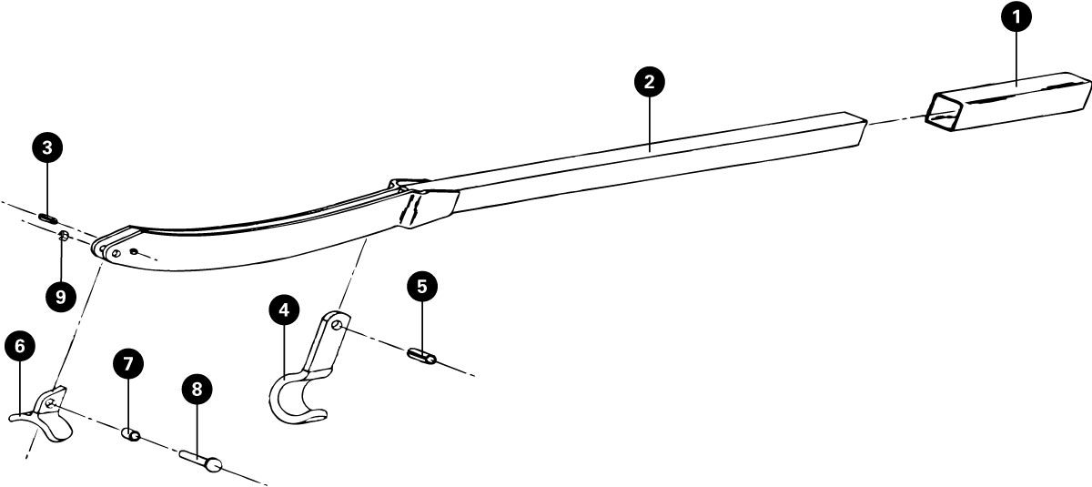 Parts diagram for FFS-2 Frame and Fork Straightener, click to enlarge