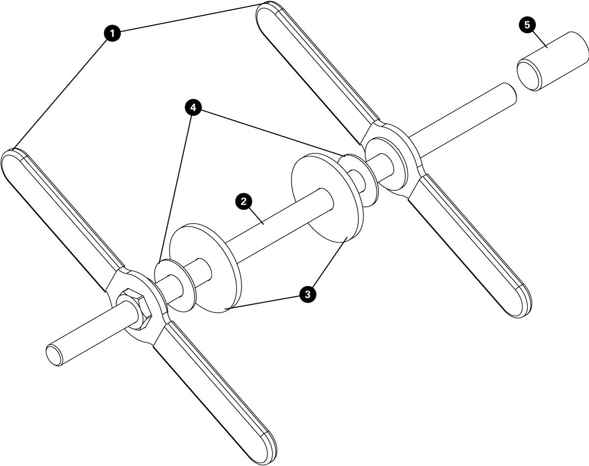 Parts diagram for HHP-3 Home Mechanic Bearing Cup Press, click to enlarge