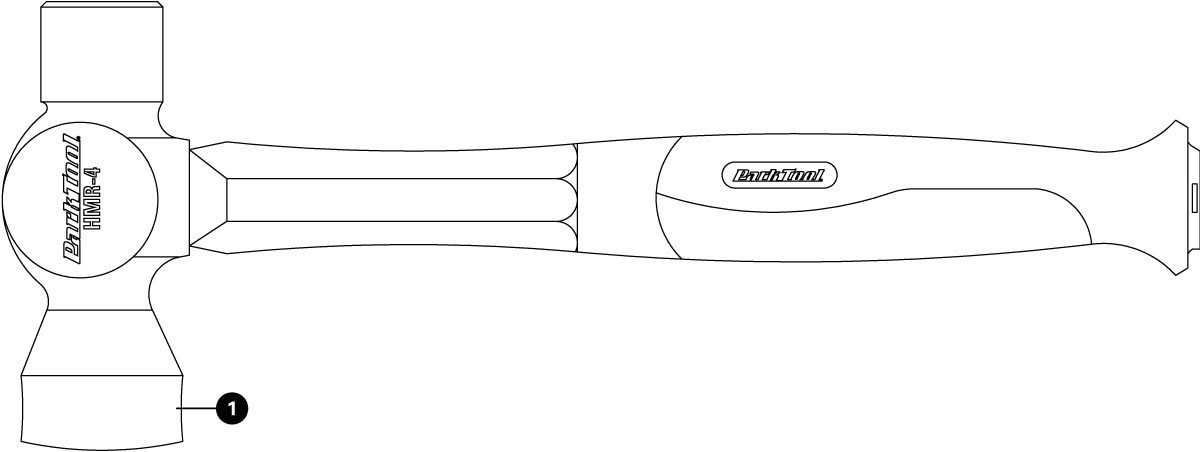 Parts diagram for HMR-4 21 oz. Shop Hammer, click to enlarge