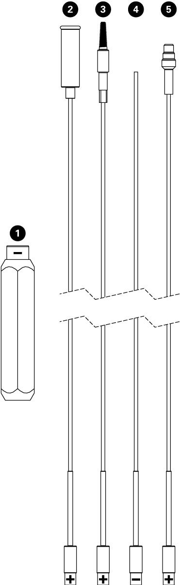 Parts diagram for IR-1.2 Internal Cable Routing Kit, click to enlarge