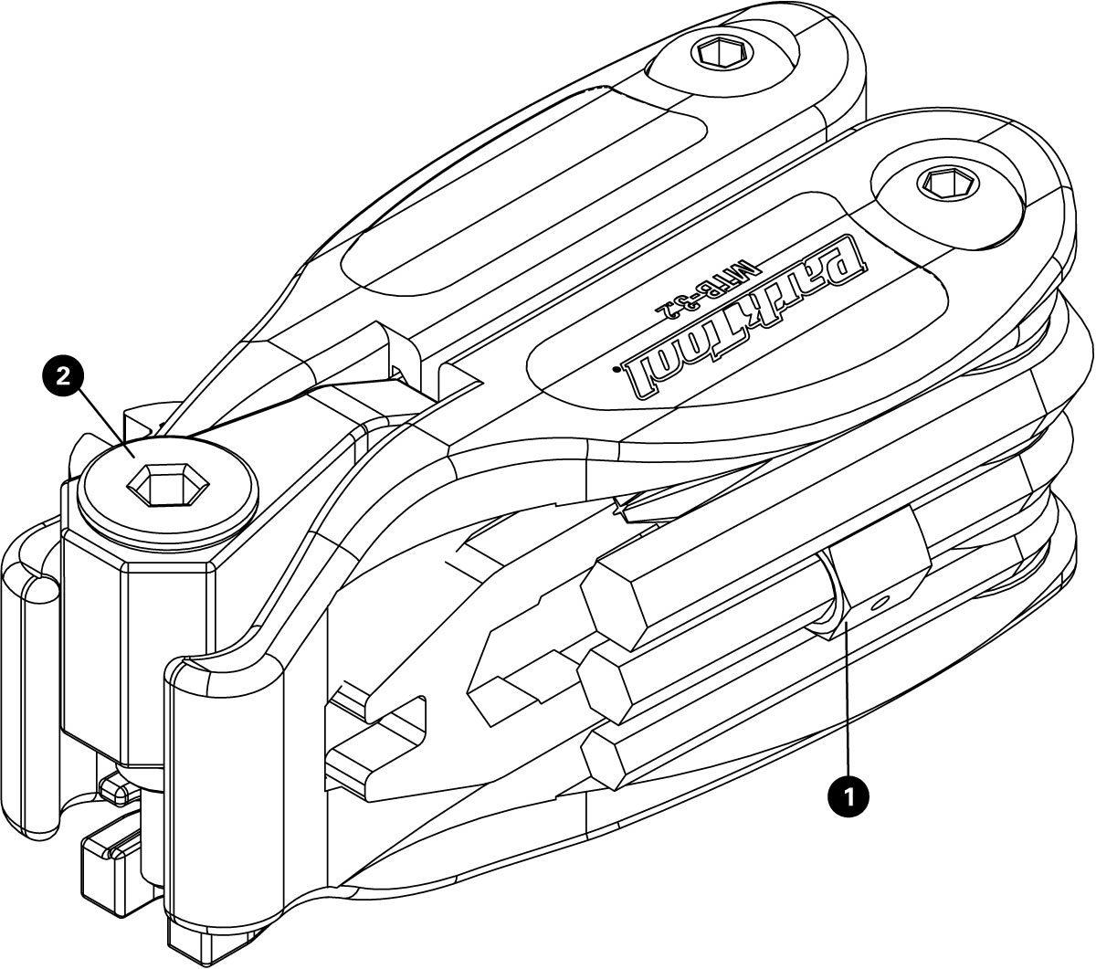Parts diagram for MTB-3.2 Premium Rescue Tool, click to enlarge