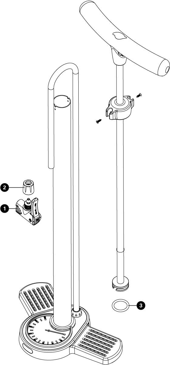 Parts diagram for PFP-8 Home Mechanic Floor Pump, click to enlarge
